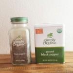 Simply Organicの黒こしょうが香り高く美味しい♪